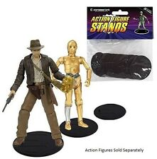 NEW Action Figure Stand Pack of 25 Black Stands, 2-1/8 Inch Diameter