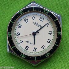 RARE Vintage Men's Quartz Wrist Watch Slava Diver Soviet USSR cal. 3056