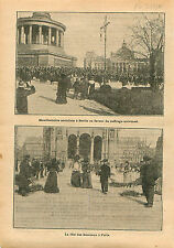 Fêtes des Rameaux Église Saint-Augustin  Paris/Meeting Berlin 1910 ILLUSTRATION
