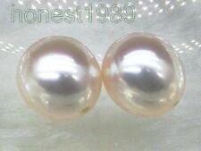 Natural top 9.5*11mm oval loose white south sea round half drilled pair pearl
