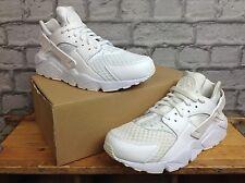 Nike pour hommes uk 8.5 eu 43 white huarache platinum baskets rrp £ 90