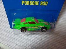 PORSCHE 930 Hot Wheels #7607 Blue Card #148 RARE Metalflake Green w/Basic Wheels