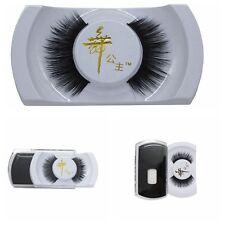 Real 100% Black Handmade Natural Mink Hair Long Thick Eye Lashes False Eyelashes