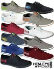 Mens New HENLEYS Lace up Canvas Shoes Gym Pumps Plimsolls Trainers Sneakers