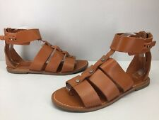Madewell 1937 Rust Brown Leather Boho Ankle Strap Sandals Womens sz 9