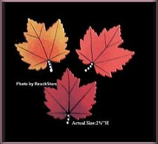 MAPLE LEAF METAL MAGNETS SET EMBELLISH YOUR STORY by ROEDA™ FREE U.S. SHIPPING
