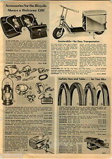 1956 ADVERT Scootmobile Continental 2 HP 4 Cycle Motor Scooter Police Pedal Car