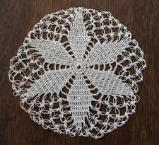 Vintage Set Knotted Crochet Lace Coasters Doilies Round 4""