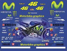 2016 Movistar ROSSI MOTO GP Carrera Completa Calcomanías Gráficos Pegatinas Kit