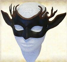 Handmade Leather Deerhorn Mask Cosplay Masque Halloween Party Deer Costume
