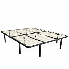 Full Size Solid Wooden Slat Mattress Stand. No Box Spring Needed Bed Sleeper Roo