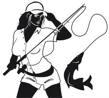 Sexy Girl Fishing -  Sticker Decal