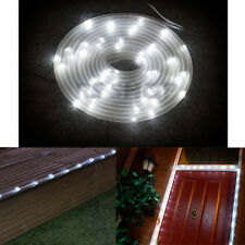 5M Solar Powered Tube Light Rope Outdoor Garden Strip 50 White LED with 2M Wire