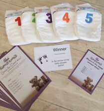 Baby Shower Games - Dirty Nappy Game - Guess The Sweet Mess -  20 Playing Sheets