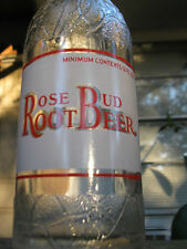 Rose Bud Root Beer Bottle - TEXAS - 1930s - Scarce ACL