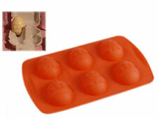 6 cell Easter Egg Creme Silicone Bakeware Mould Pan for Chocolate cake soap