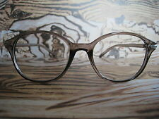 Transparent Brown Wayfarer Geek Nerd Retro Fashion Glasses 60s 80s