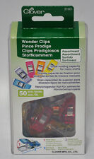 Clover Assorted Color Wonder Clips 50 Pieces 3183