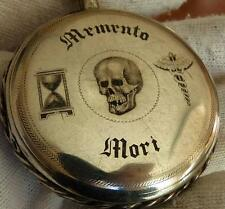 Mega rare antique silver Breguet Verge Fusee Doctor's Skull repeater watch c1800