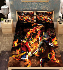 Anime One Piece Luffy/Ace/Sabo Cosplay Micro Fiber Bed Sheet Blanket Gift#Z-X-13