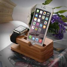 Bois Bambou Dock Station Charge Support Stand Holder Pr Apple Watch iPhone 6/7