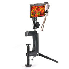 Portable Swiveling C- Clamp Stand Tripod  for Digital Camera Camcorder DSLR