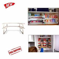 Kitchen RV Shelf 64 Spice Jar Rack Stackable Organizer Storage Cabinet Cupboard