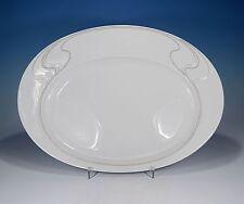 "Rosenthal ""Asimmetria Weißgold"" Platte 34,5 x 25 cm."