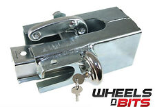 WHEELS N BITS  Universal CAR Trailer Caravan Toe Tow Hitch Security Steel Lock