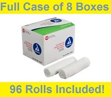 "Dynarex 3104 Conforming Strech Gauze 4"" Roll Non Sterile Bandage -8 Box/96 Rolls"