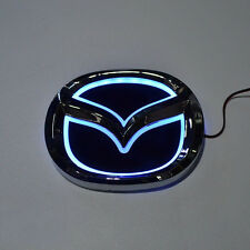 LED 5d White Logo Badge Emblem Light for Mazda 3 5 6 cx-7 12x9.5cm 4.7x3.74in