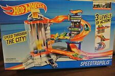 Hot Wheels Speedtropolis Playset with 3 Levels
