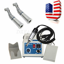Dental Lab Marathon Electric Micro Motor 2*Slow Speed Handpiece Contra Angle :M-