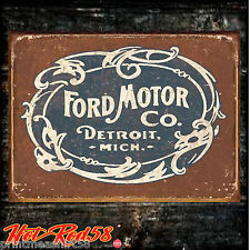 Vintage American Ford Motors Logo Garage Advertising Metal Tin Wall Signs UK