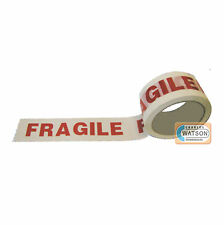 48mm x 66m FRAGILE TAPE Sellotape Parcel Packaging Adhesive Wrapping