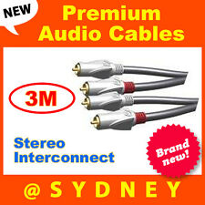 NEW High Quality ISIX Pro HQ 3m RCA Stereo Audio Interconnect Cable