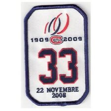 2008 Patrick Roy Retirement Ceremony Game Montreal Canadiens Jersey Patch #33