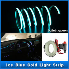 3M ICE BLUE EL Wire Car Interior Unique Decor Fluorescent Neon Cold light Strip