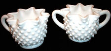 Fenton White Milk Glass HOBNAIL: Star Sugar Bowl and Creamer: EXC: NR