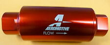 Aeromotive 12304 ORB -10 AN #10 In Line Fuel Filter 100 Micron Red