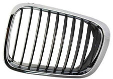BMW 3 SERIES E46 98-01 SALOON ESTATE FRONT LEFT GRILLE KIDNEY CHROME BLACK
