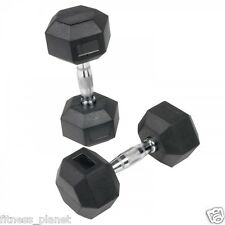 Gofit 7.5 Kg X 2 Total 15 Kgs Weight Lifting Hex Rubber Dummbbells Dumbells