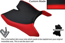 RED & BLACK CUSTOM FITS MOTOHISPANIA RX 125 R 09-14 FRONT LEATHER SEAT COVER