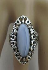 CAROLYN POLLACK SINCERELY SOUTHWEST Blue Lace Agate Sterling Silver Ring Size 11