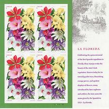 LA FLORIDA STAMP SHEET -- USA #4750-#4753 FOREVER  2013