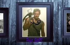 Norman Reedus The Walking Dead SIGNED AUTOGRAPHED FRAMED 10x8 REPRO PRINT
