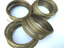 Jewellery Making Antique Bronze Steel 1mm Thick Memory Wire - 35 loops