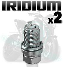 2x AGA Iridium Spark Plugs for TRIUMPH 865cc Bonneville 900 /Black 06-  D8RTCI-9