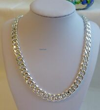 Thick 925 sterling silver filled/plated men curb chain heavy necklace 22Inches