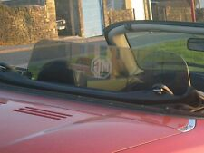 MG MGF MGTF TINTED WIND DEFLECTOR STOP No Drilling fitted in minutes.